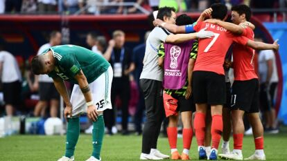 En tiempo de compensación Kim Young-Gwon (90+2') y Son Heung-Min (90+6') despacharon a los teutones aquella edición de la Copa del Mundo.