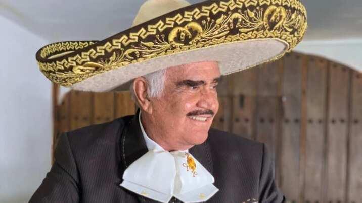 Vicente Fernández se prepara para su concierto en Guadalajara