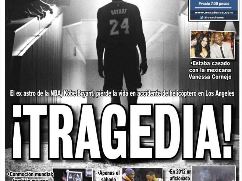 Kobe Bryant, periódico, OVACIONES.jpg