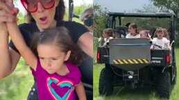Jacky Bracamontes y su familia se lanzan a la aventura en un jeep