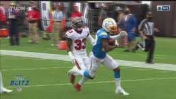 ¡Increíble pase! Herbert lanza para un TD de 53 yardas con Johnson