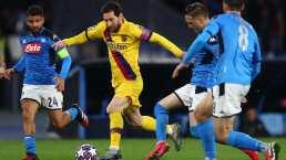 ¡En riesgo el Barcelona vs. Napoli de Champions League!