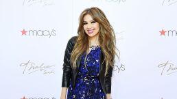 Thalía se quema el dedo con una plancha del cabello y sin querer hace la 'Britney Señal'