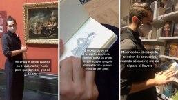 Divertida forma de hacerse el intelectual en museos