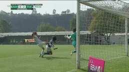 ¡Milagro en la línea! Melany Villeda no permite el gol de Puebla
