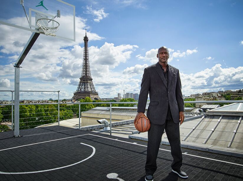 Michael Jordan in Paris to Mark 30 Years of Air Jordan at Palais 23.