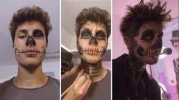 Halloween se acerca y el 'aterrador' maquillaje de Juanpa Zurita lo sabe