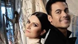 Así grabaron Laura Pausini y Carlos Rivera el videoclip de 'La solución'