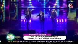 ¡Maluma sorprende en concierto de Emmanuel y Mijares!