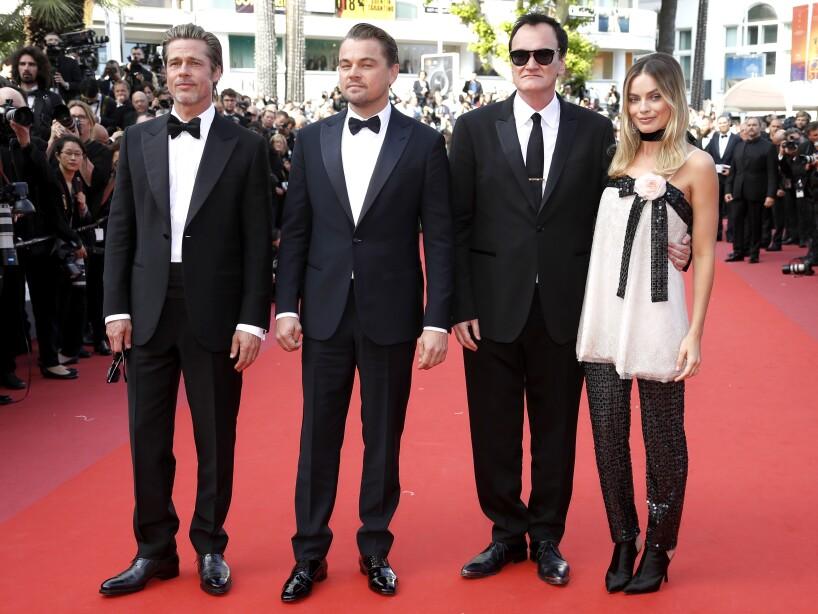 A la proyección también asistió Margot Robbie, quien posó junto a sus colegas en la alfombra roja.