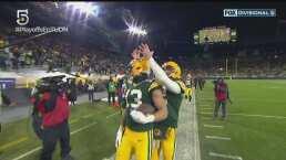 ¡Rodgers presume el brazo! Lanza para un touchdown de 58 yardas