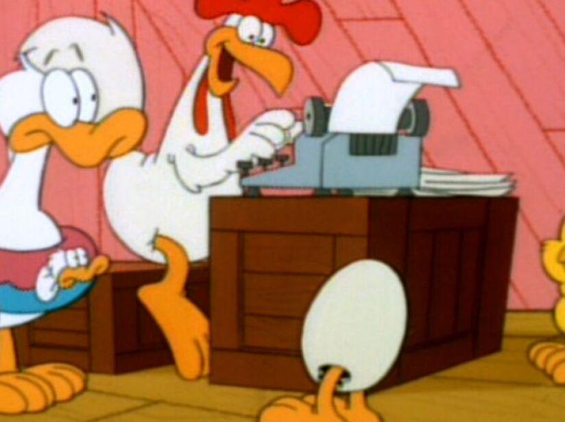 2. Booker and Sheldon: El pollo de Garfield y sus amigos, entre ellos un pollo que nunca ha salido de su cascarón.