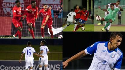 Islas Vírgenes 4-0 Barbados; Islas Caimán 1-0 Saint-Martin; Anguila 2-3 Puerto Rico; Santa Lucía 0-2 El Salvador; Aruba 0-6 Jamaica; República Dominicana 0-0 Montserrat; Canadá 2-0 EEUU; México 3-1 Panamá.