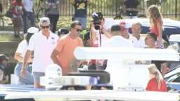 Tom Brady presume yate de 2 MDD en celebración de los Buccaneers