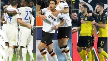 Borussia Dortmund 3-2 Inter; Olympique de Lyon 3-1 Benfica; Valencia 4-1 Lille.