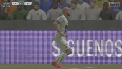 Juan Pablo Vigón puso fin a la racha celeste tras un gol de último minuto que recibió Jonathan Borja.