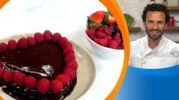 Receta San Valentín; Pastel de corazón naranja y chocolate