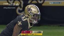 ¡Quita risas! Un castigo le roba el touchdown a Deonte Harris