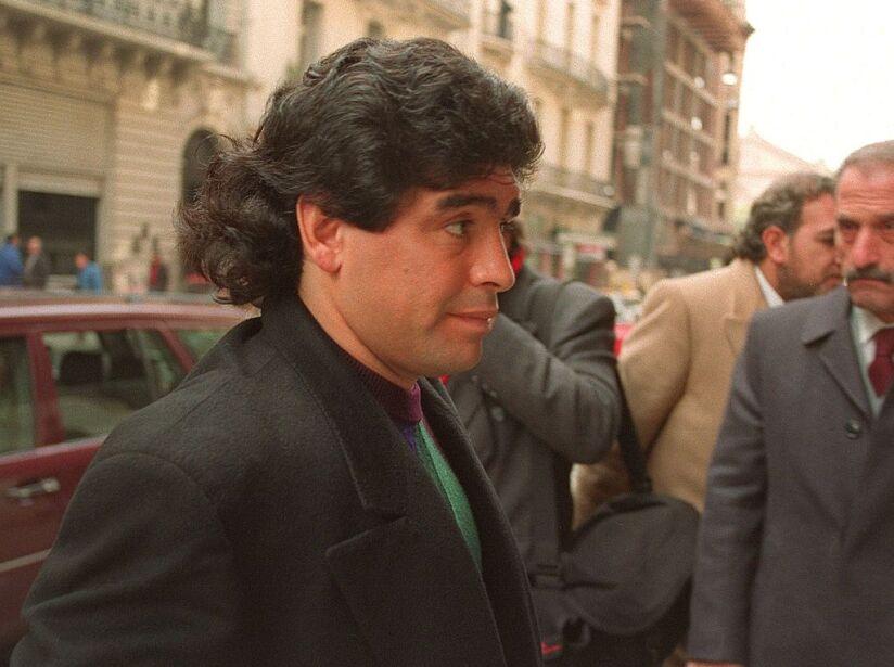Argentinian soccer player Diego Maradona enters co