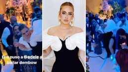 Adele causa revuelo en bodorrio, aparece bailando con todo tremendo dembow