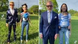 Gianluca Vacchi y Sharon Fonseca se divierten con su hija al recrear a los muñecos de Barbie y Ken