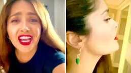 Los aretes de chile y el grito de Salma Hayek que causaron sensación en redes sociales