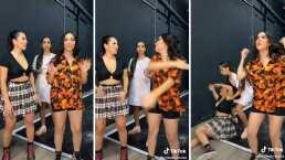 ¡Auch!: Mira cómo Kimberly Loaiza golpea a su amiga mientras graba TikTok