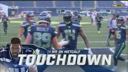 De Russell Wilson a Metcalf y los Seahawks pegan primero con el TD