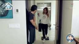 María Amelia Aguilar, novia de Raúl Araiza, le da 'clases' de cómo limpiar su departamento