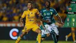 Muy fieras, pero Tigres y León no pasan del empate