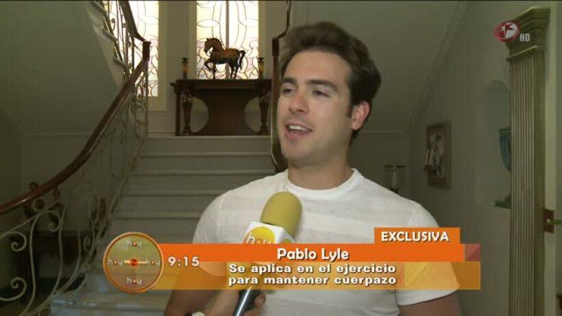 Pablo Lyle se esfuerza para mantener cuerpo sano