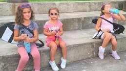 Así se divierten las hijas de Jacky Bracamontes en sus entrenamientos de tenis