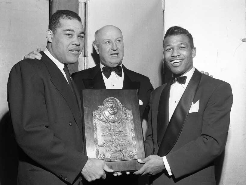 Sugar Ray Robinson, Joe Louis, James A. Farley, James Farley