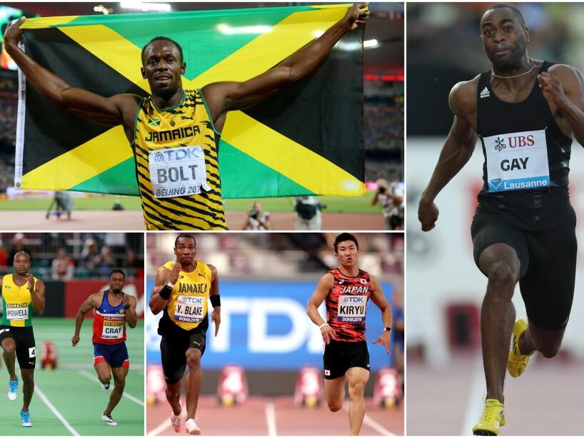 En el top 10 de los 100 metros planos dominan EEUU y Jamaica