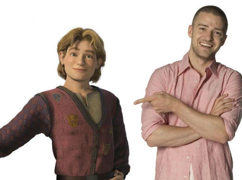 10. Justin Timberlake: El ex de Britney Spears presta su voz al simpático Arturo en Shrek Tercero.