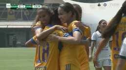 ¡Letales! Belén Cruz anota con un cabezazo el 0-2 para Tigres