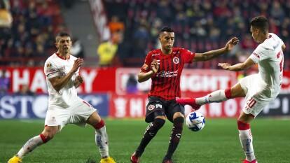 Con gol de Michel Estrada al minuto 88, Tijuana y Toluca dividen puntos en el Estadio Caliente.