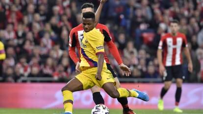 Con gol de Iñaki Williams al minuto 93, Athletic gana y elimina al Barcelona de la Copa del Rey.