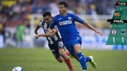 ¡Lo hizo de nuevo! Cruz Azul deja ir el triunfo con Monterrey al frente