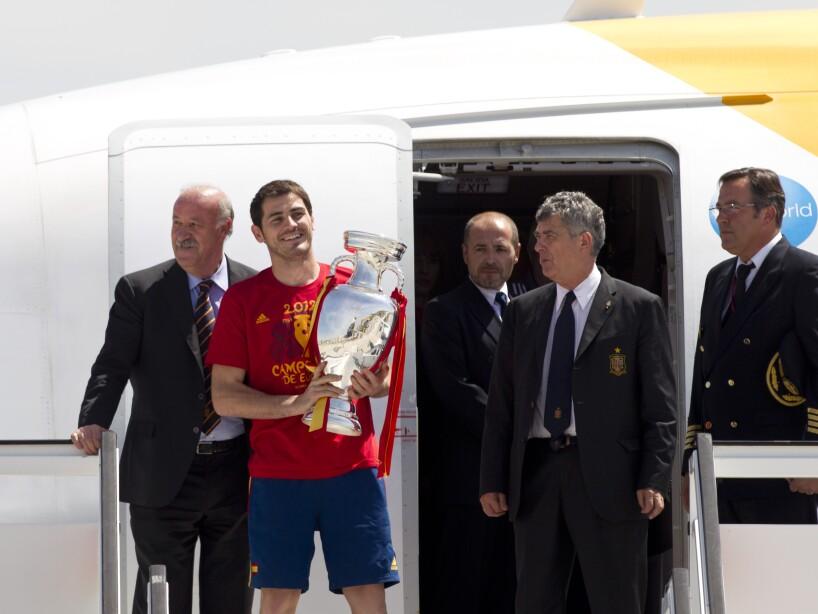 Iker Casillas, Vicente del Bosque, Angel Villar