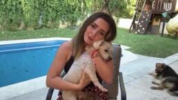 Ariadne Díaz presenta a sus 'perrhijos' y habla del amor que siente por ellos