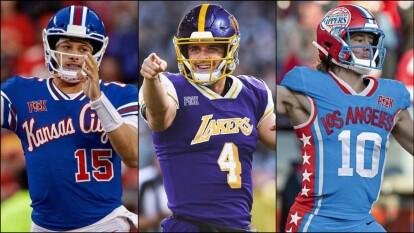 Así se verían los jugadores de futbol americano enfundados en los diseños de los equipos históricos de la NBA.
