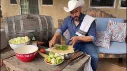 """""""Como si estuviéramos allá en el rancho"""", Lupillo Rivera enseña cómo preparar un caldo de res"""