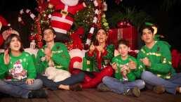 Ana Bárbara y sus hijos cautivan con su fabuloso árbol de Navidad, adornado con enormes Santa Claus