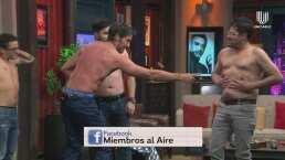 ¡Duelo de miembros! Mauricio Mancera, 'El Burro' Van Rankin y Paul Stanley compiten sin camisa
