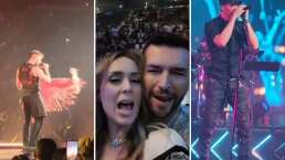 Así se divirtieron Jacky Bracamontes y su esposo en concierto de Ricky Martin y Enrique Iglesias