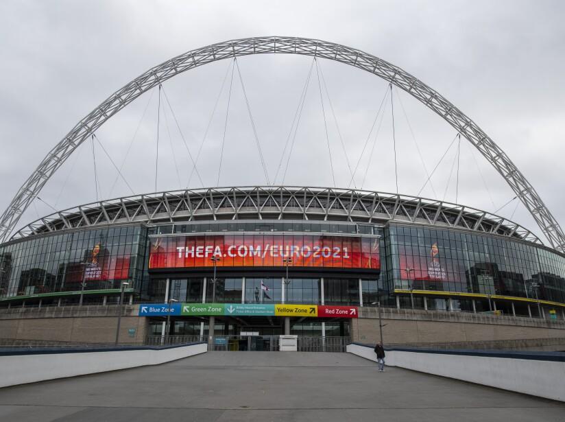 General Views of Wembley Stadium As Euro 2020 Is Postponed Until 2021