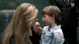 'Mónica' se despide de su hijo