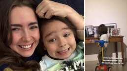 Ariadne Díaz se conmueve al ver a su hijo darle las buenas noches a la fotografía de su fallecida tía