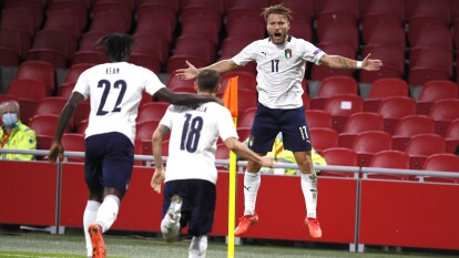 Italia obtiene su primera victoria ante Holanda